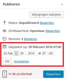 WordPress datum aanpassen