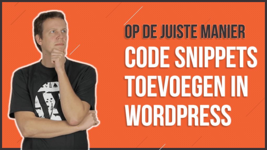 Code snippets toevoegen in WordPress