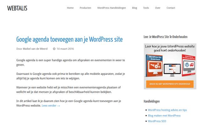Webtalis nieuw design gestript