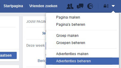 Facebook advertenties beheren