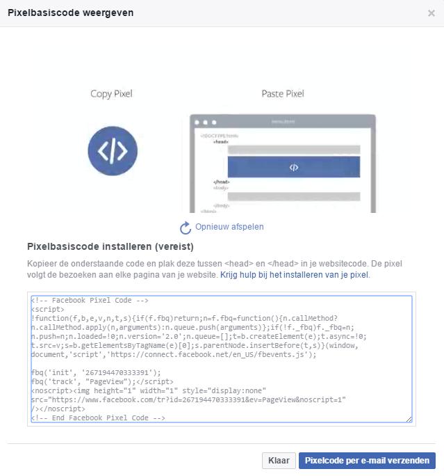 Facebook pixelbasiscode