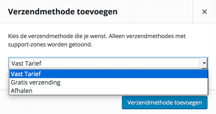 Verzendmethode toevoegen in WooCommerce