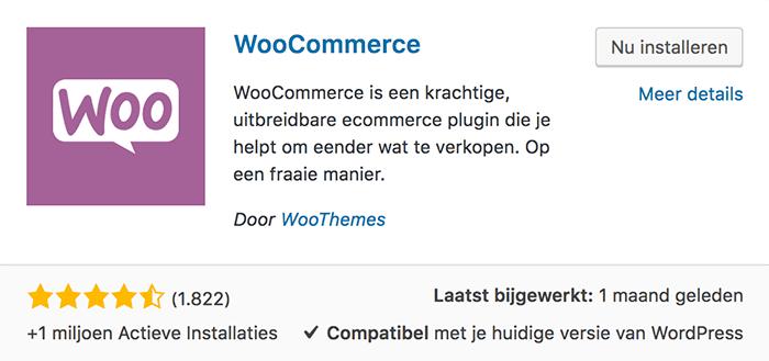 WooCommerce plugin nu installeren
