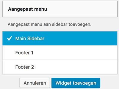 WordPress widget toevoegen aan een widget-gebied