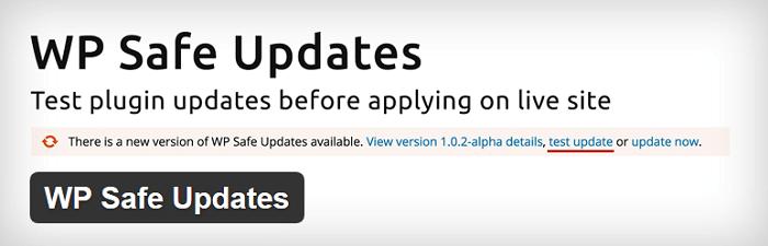 WP Safe Updates