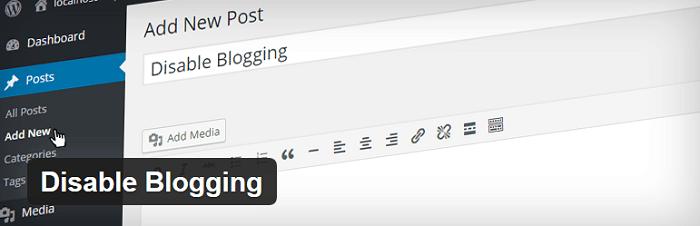 Disable Blogging