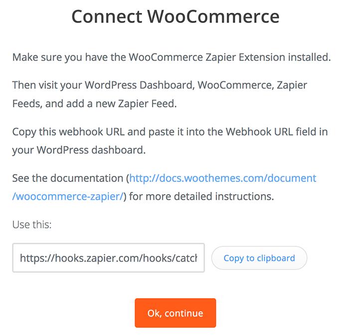 WooCommerce Zapier webhook