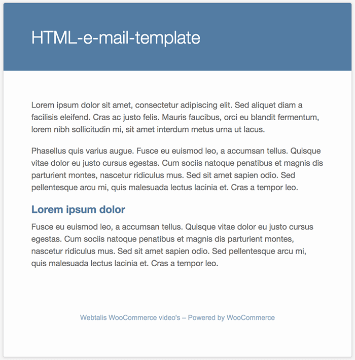 Voorbeeld WooCommerce e-mail-template