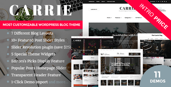 Carrie WordPress Thema