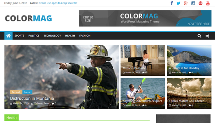 ColorMag WordPress Thema