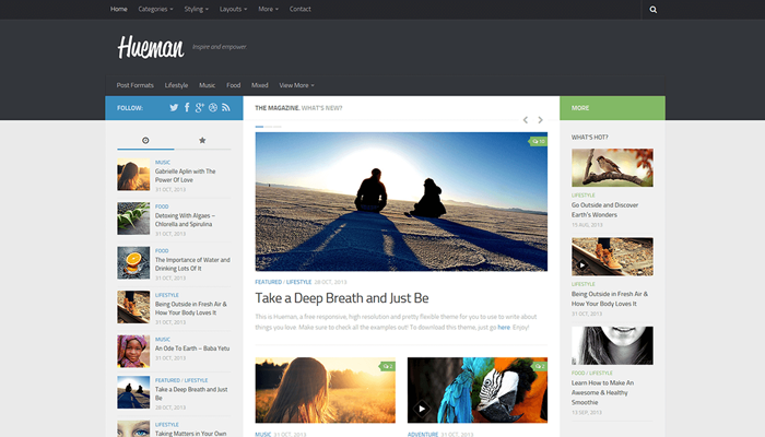 Hueman WordPress Thema