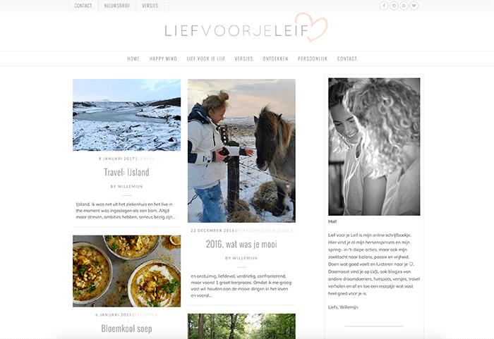 WordPress blog: Lief voor je Leif