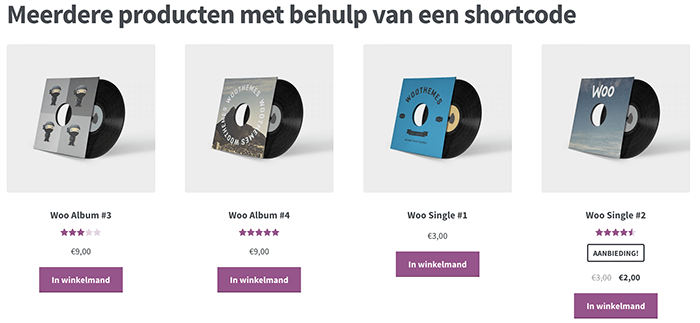 Meerdere producten inladen in WooCommerce