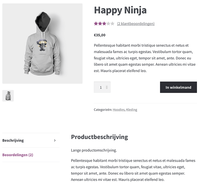 Product in WooCommerce