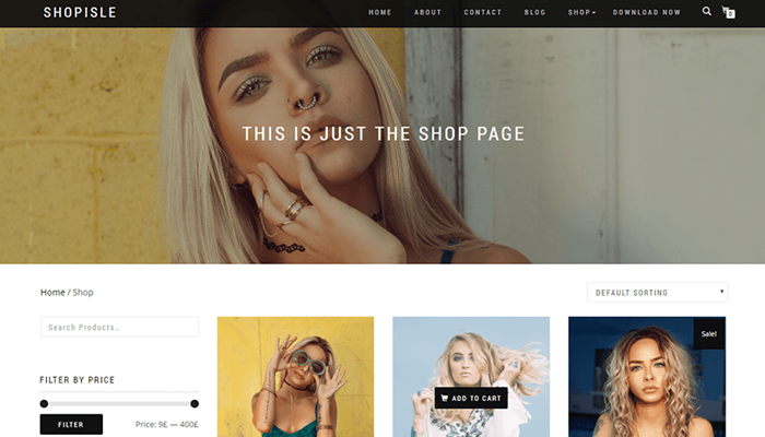 Shop Isle WordPress Thema