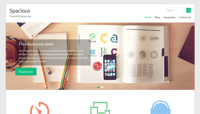 Spacious WordPress Thema