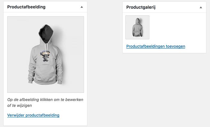WooCommerce productafbeelding en fotogalerij toevoegen