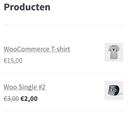 WooCommerce producten