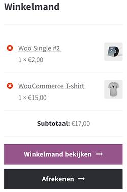 WooCommerce winkelmand