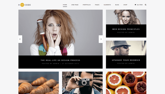 H-Code WordPress Thema