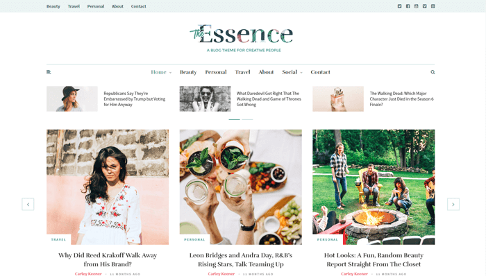 The Essence WordPress Thema