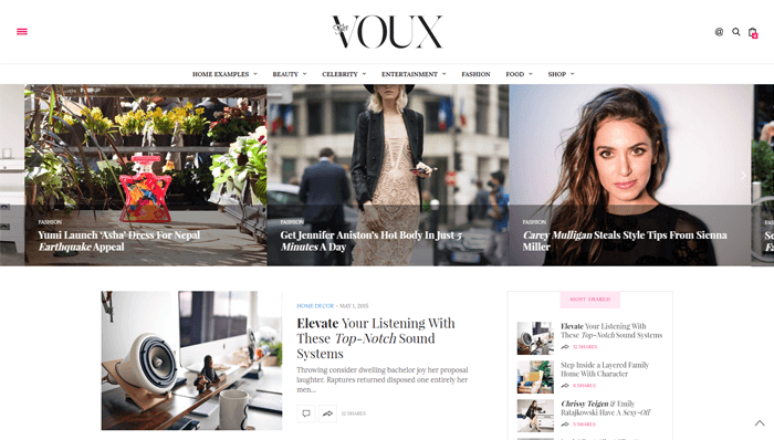 The Voux WordPress Thema