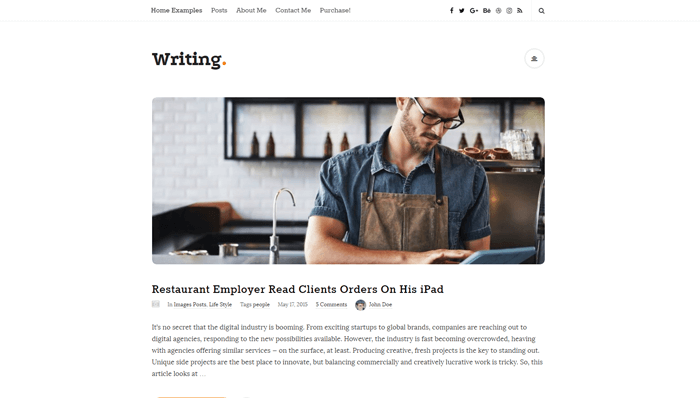 Writing WordPress Thema