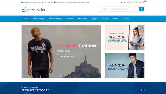 StoreVilla WordPress Thema