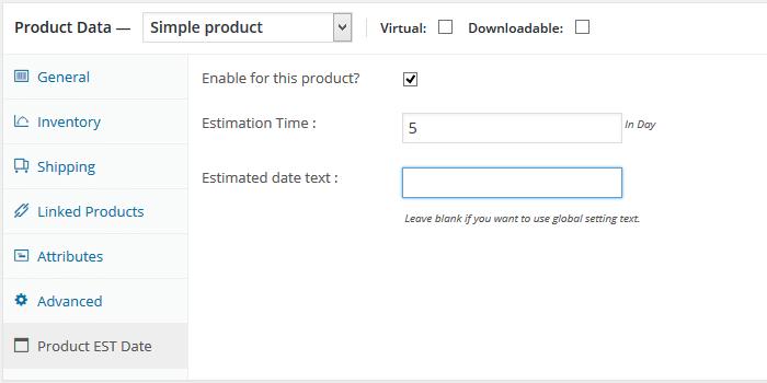 WooCommerce levertijd instellen per product