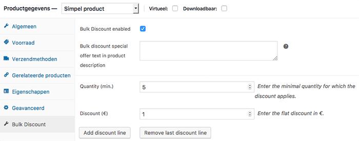 WooCommerce staffelkorting instellen bij een product