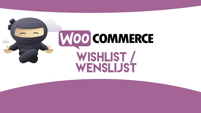 WooCommerce wishlist / wenslijst