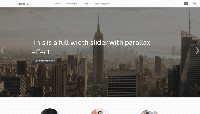 Customizr WordPress Thema
