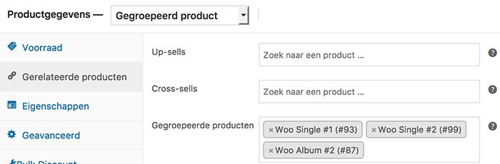 Gegroepeerde producten selecteren in WooCommerce