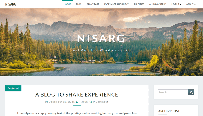 Nisarg WordPress Thema