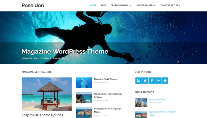 Poseidon WordPress Thema