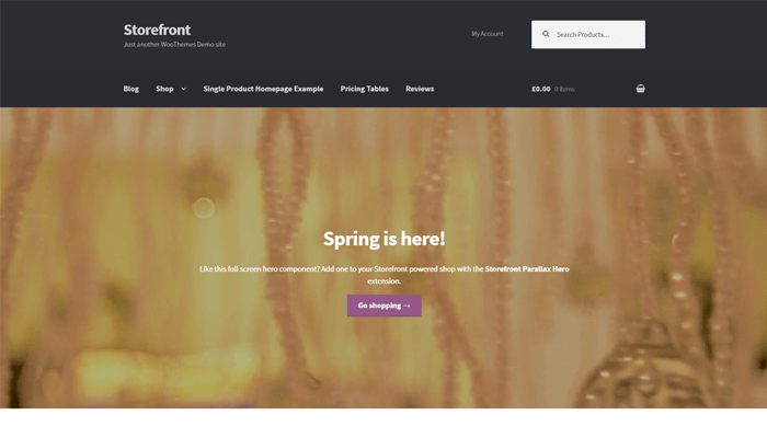 Storefront WordPress Thema