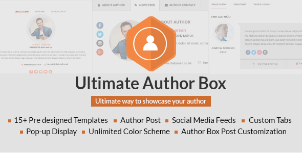 Ultimate Author Box Plugin