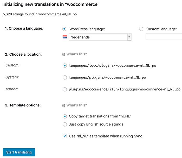 WooCommerce vertaling kopiëren in Loco Translate