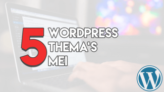 Top 5 WordPress thema's Mei