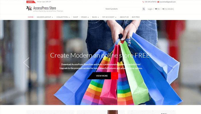 AcessPress Store Thema
