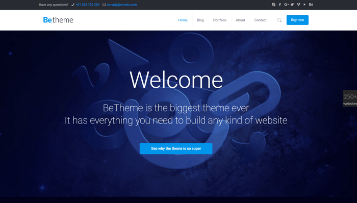 BeTheme WordPress Thema