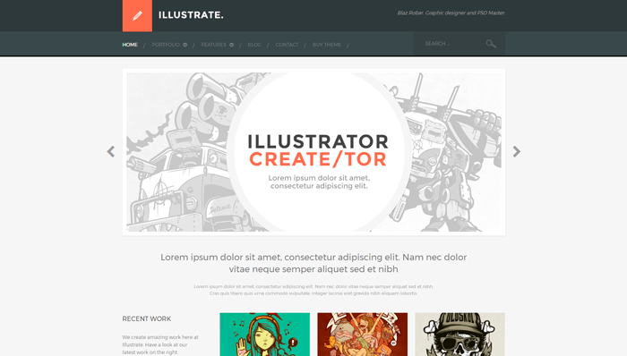 Illustrate WordPress Theme