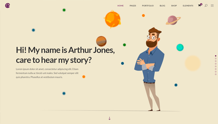 Illustrator WordPress Thema