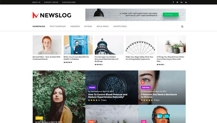 Newslog thema