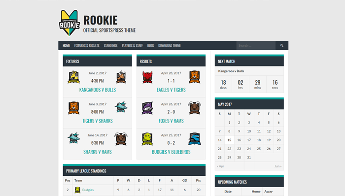 Rookie Thema