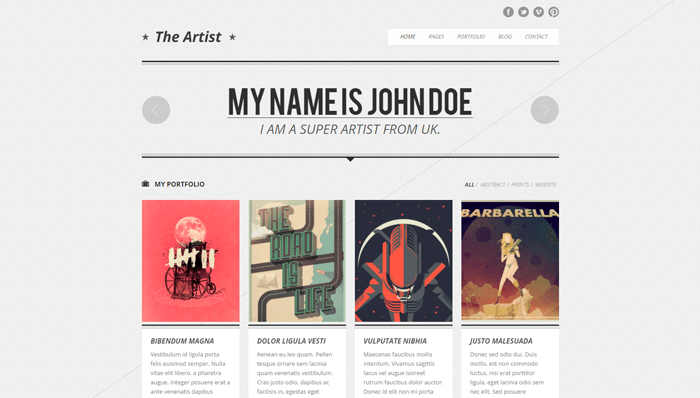 The Artist WordPress Thema