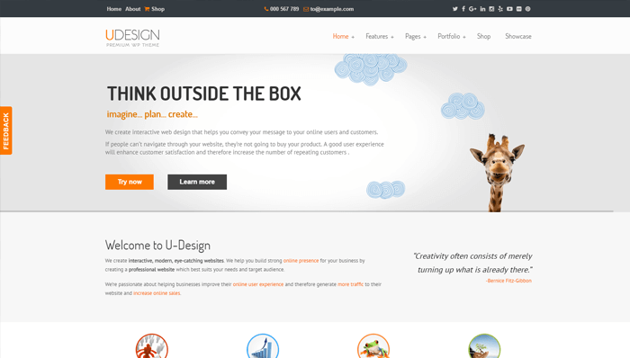uDesign WordPress Thema