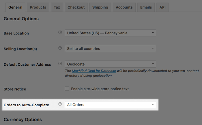 WooCommerce order status automatisch afronden