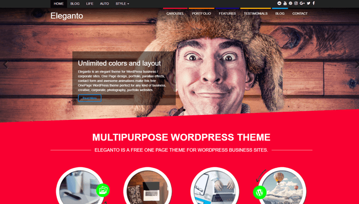 Eleganto WordPress Thema