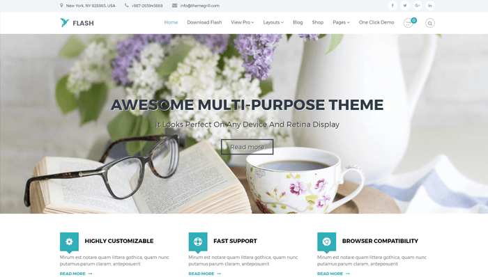 Flash WordPress Thema